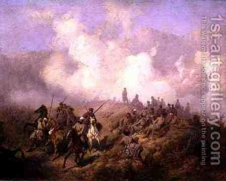 A Scene from the Russian Turkish War by Aleksei Danilovich Kivshenko - Reproduction Oil Painting