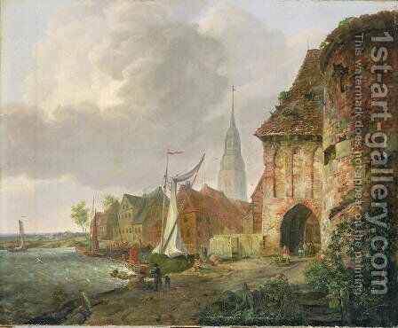 The March Gate in Buxtehude by Adolph Kiste - Reproduction Oil Painting