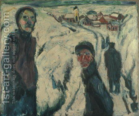 Snow Landscape by Ernst Ludwig Kirchner - Reproduction Oil Painting