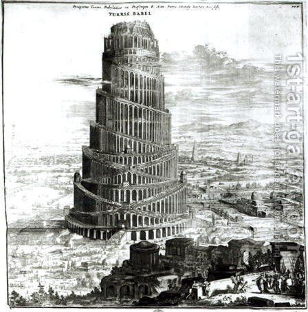 The Tower of Babel by Athanasius Kircher - Reproduction Oil Painting