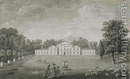 View of the Palace at Kew from the Lawn by (after) Kirby, John Joshua - Reproduction Oil Painting
