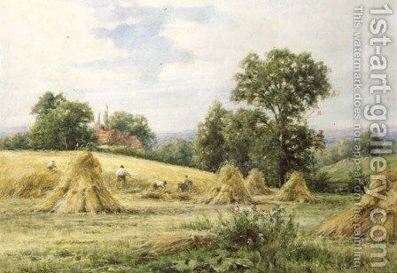 An Essex Cornfield by Henry John Kinnaird - Reproduction Oil Painting