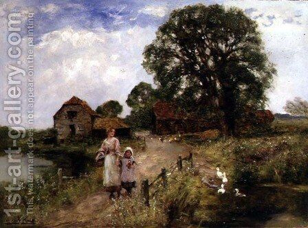The Path by the River by Henry John Yeend King - Reproduction Oil Painting