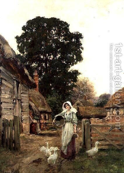 The Dairy Maid by Henry John Yeend King - Reproduction Oil Painting