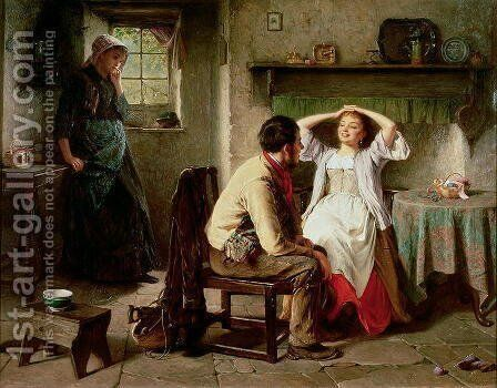 Jealousy and Flirtation by Haynes King - Reproduction Oil Painting