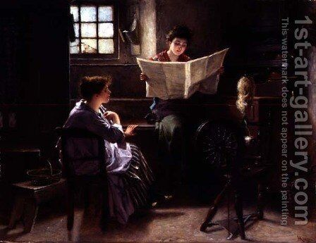 An Interesting Paragraph by Haynes King - Reproduction Oil Painting