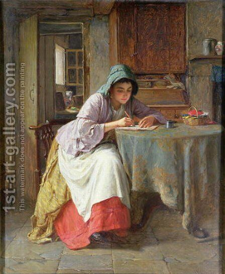 Katies Letter by Haynes King - Reproduction Oil Painting