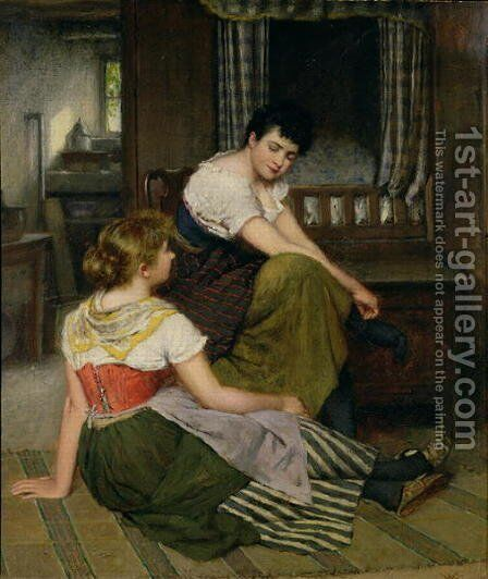 Morning Gossip by Haynes King - Reproduction Oil Painting