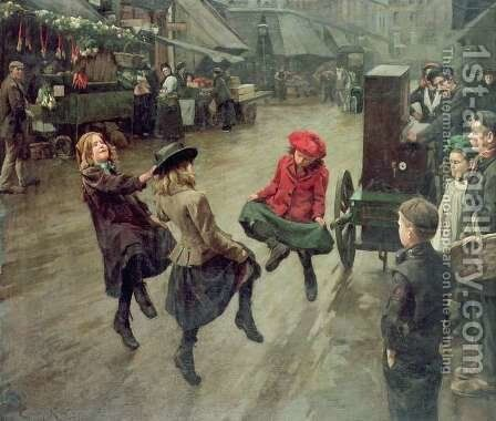 London Street Children by Edward R. King - Reproduction Oil Painting