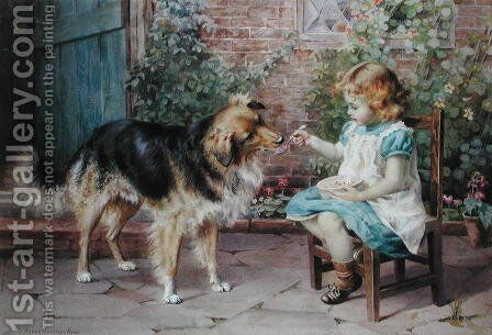 Turn About  Fair Play by Agnes Gardner King - Reproduction Oil Painting
