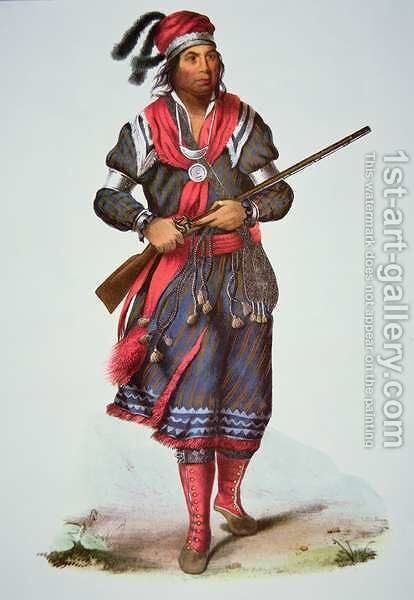 Chief Tukosee Mathla by Charles Bird King - Reproduction Oil Painting