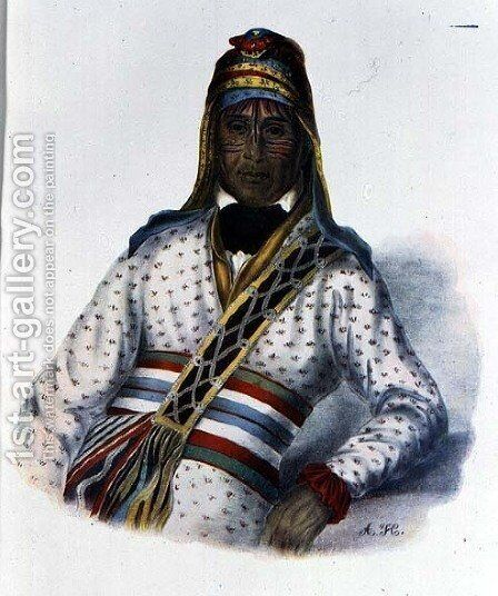 Yoholo Micco a Creek Chief by (after) King, Charles Bird - Reproduction Oil Painting