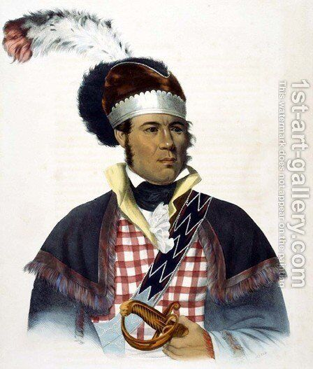 Chief McIntosh by (after) King, Charles Bird - Reproduction Oil Painting