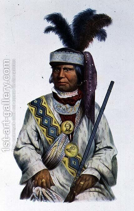 Halpatter Micco or Billy Bowlegs a Seminole Chief by (after) King, Charles Bird - Reproduction Oil Painting