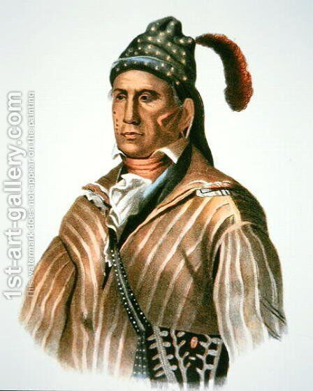 Menawa chief of the Creek people by (after) King, Charles Bird - Reproduction Oil Painting