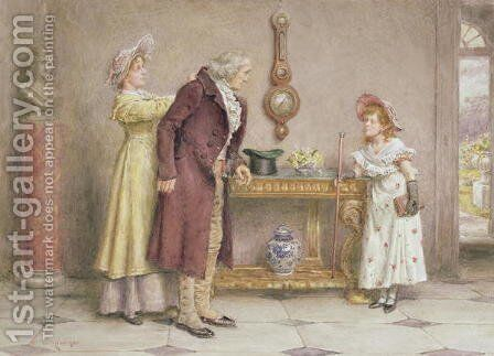 Sunday Morning by George Goodwin Kilburne - Reproduction Oil Painting
