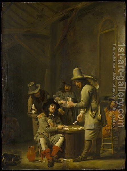 Soldiers at Cards by Simon Kick - Reproduction Oil Painting