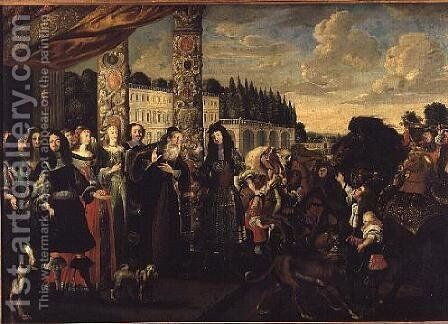 Departure of the Prodigal Son by (attr. to) Kessler, Stephan - Reproduction Oil Painting