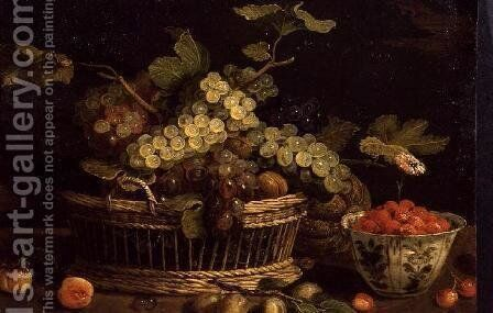 Still life with fruit 2 by Jan van Kessel - Reproduction Oil Painting