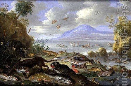 The Element of Water by Jan van Kessel - Reproduction Oil Painting