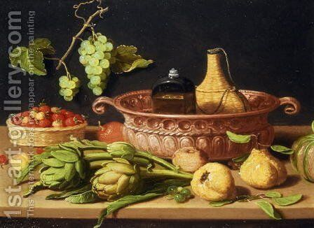 A Still Life with Artichokes by Jan van Kessel - Reproduction Oil Painting