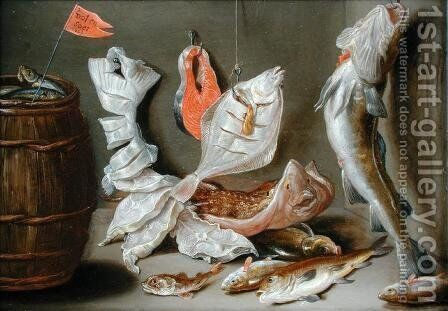 Still Life with Fish by Jan van Kessel - Reproduction Oil Painting