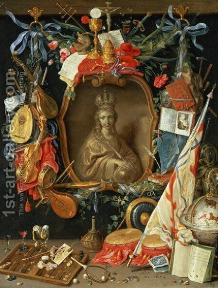 Ecclesia Surrounded by Symbols of Vanity by Jan van Kessel - Reproduction Oil Painting