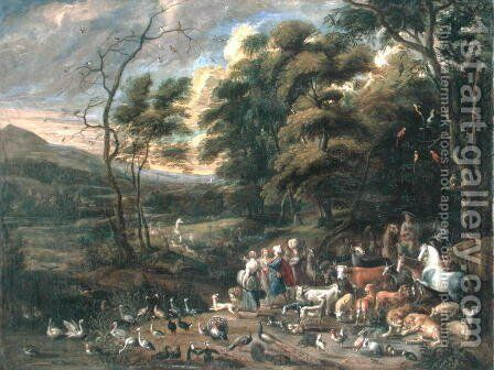 Noah and the Animals by (attr. to) Kessel, Jan van - Reproduction Oil Painting