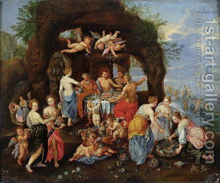 The Feast of the Gods by (attr. to) Kessel, Jan van - Reproduction Oil Painting