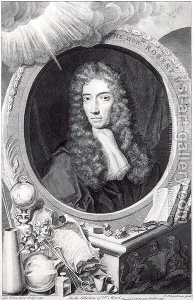 Portrait of the Honorable Robert Boyle 1627-91 by (after) Kerseboom, Johannes - Reproduction Oil Painting