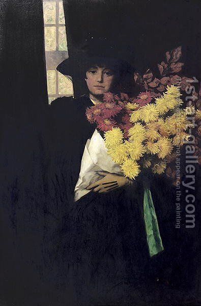 Chrysanthemums by Charles Henry Malcolm Kerr - Reproduction Oil Painting