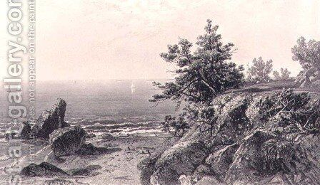 On the Beverly Coast Massachusetts by (after) Kensett, John Frederick - Reproduction Oil Painting