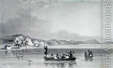 Eskimaux Encampment on Richards Island by (after) Kendall, E.N. - Reproduction Oil Painting