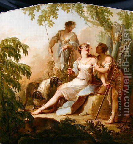 Diana Resting after the Hunt by Johann-Heinrich Keller - Reproduction Oil Painting