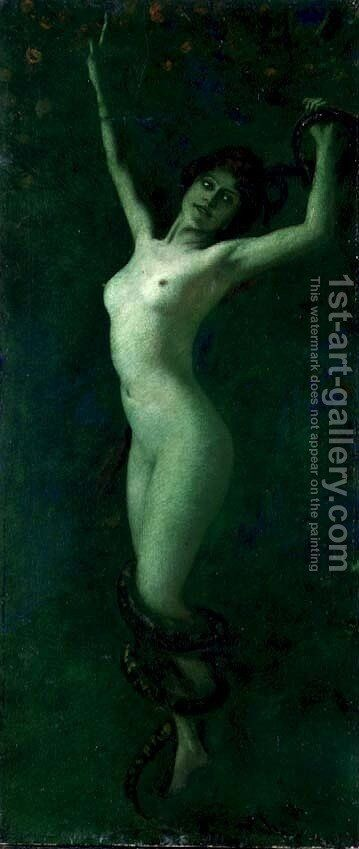 Sensuality by Albert von Keller - Reproduction Oil Painting