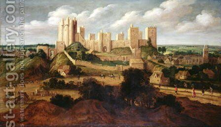 Pontefract Castle by Alexander Keirincx - Reproduction Oil Painting