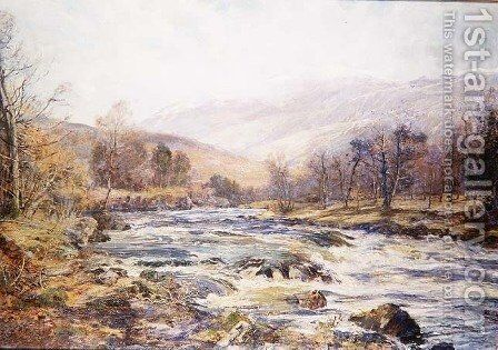 O River of Winter Sunshine Scotland by Archibald Kay - Reproduction Oil Painting