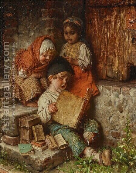 The Song Book by Hermann Kaulbach - Reproduction Oil Painting