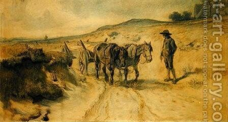 On the Moorland by Hermann Kauffmann - Reproduction Oil Painting