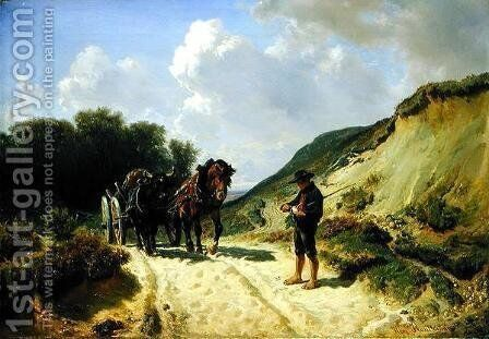 Two Types of Harness by Hermann Kauffmann - Reproduction Oil Painting