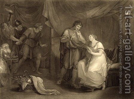 In Calchas tent by (after) Kauffmann, Angelica - Reproduction Oil Painting