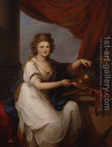 Portrait of Countess Catherine Skawronska by Angelica Kauffmann - Reproduction Oil Painting