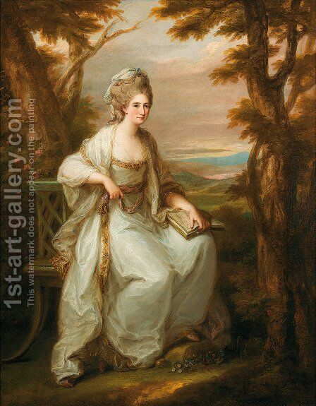 Portrait of Anne Loudon Lady Henderson of Fordall by Angelica Kauffmann - Reproduction Oil Painting