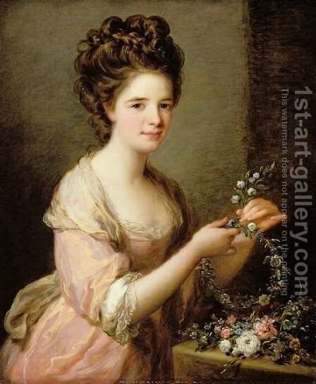 Portrait of Eleanor Countess of Lauderdale by Angelica Kauffmann - Reproduction Oil Painting