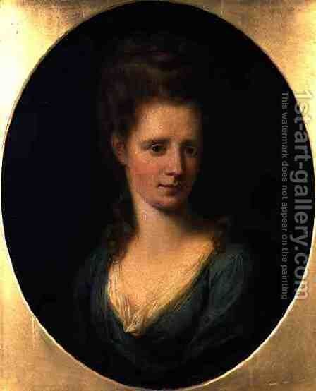 Portrait of Mrs Marriott by Angelica Kauffmann - Reproduction Oil Painting