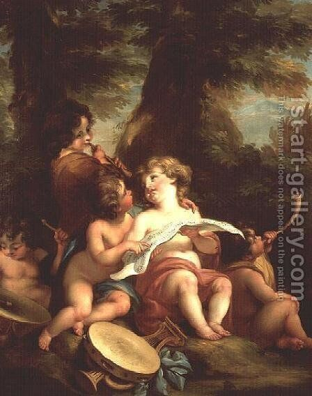 Music by Angelica Kauffmann - Reproduction Oil Painting