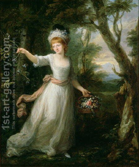 Portrait of Henrietta Laura Pulteney 1766-1808 by Angelica Kauffmann - Reproduction Oil Painting