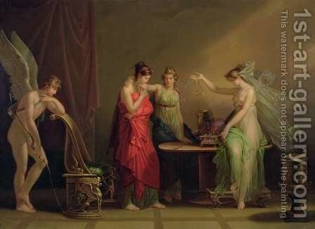 The Legend of Cupid and Psyche by Angelica Kauffmann - Reproduction Oil Painting