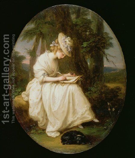 Louisa Hammond by Angelica Kauffmann - Reproduction Oil Painting