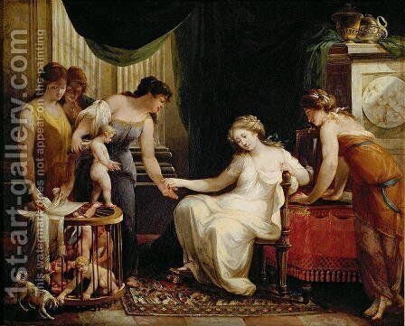 Vendor of Love by Angelica Kauffmann - Reproduction Oil Painting